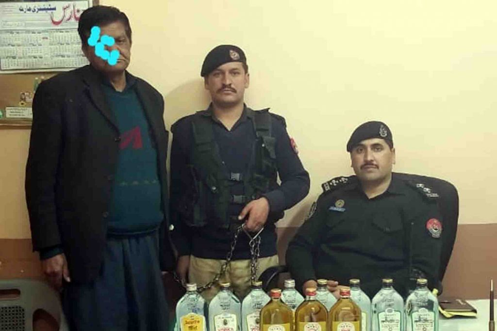 Famous Wine Dealer of Nathiagali Arrested by PS City Abbottabad