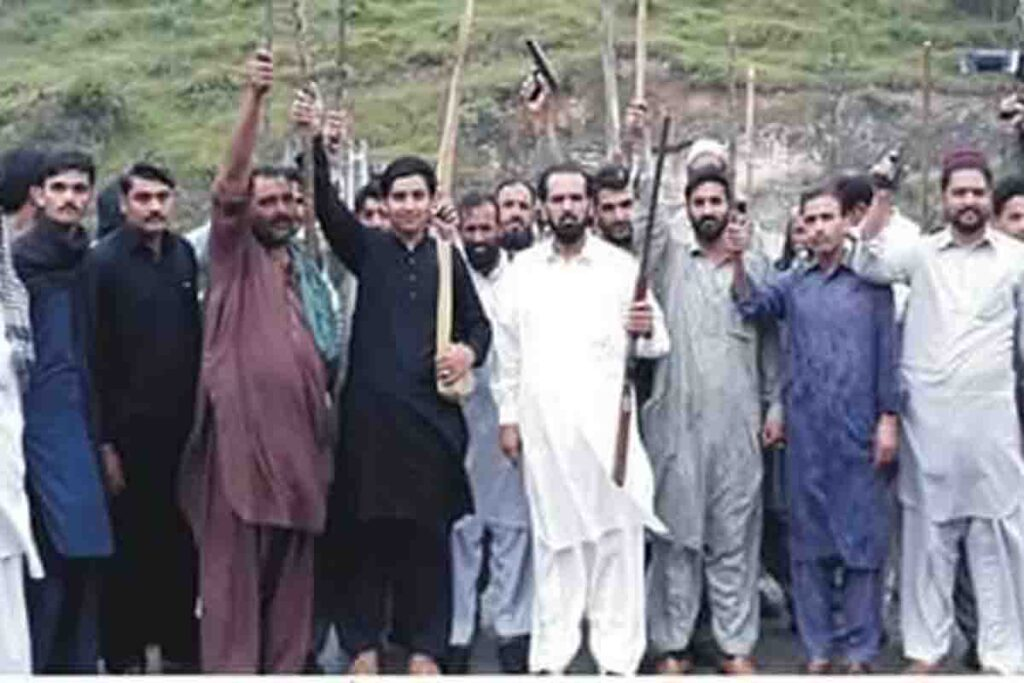 Protest Against Road Closure in Village Dhakan Paisar