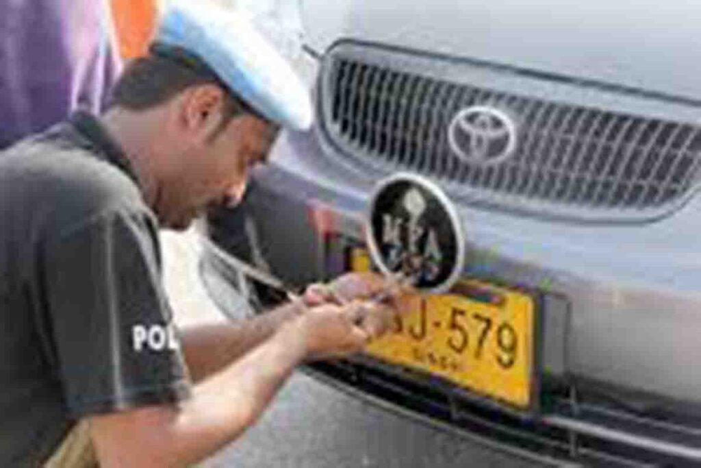 Excise Started Campaign against Non Standard No Plates