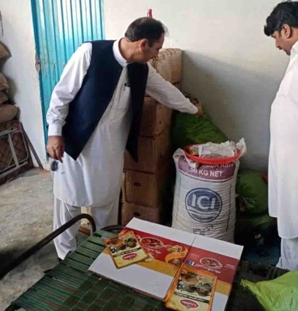 District Management Recover Fake Food Items