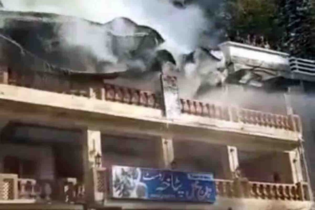 Fire at Taj Mahal Hotel Nathiagli and Jhangi Syedan. Loss of millions.