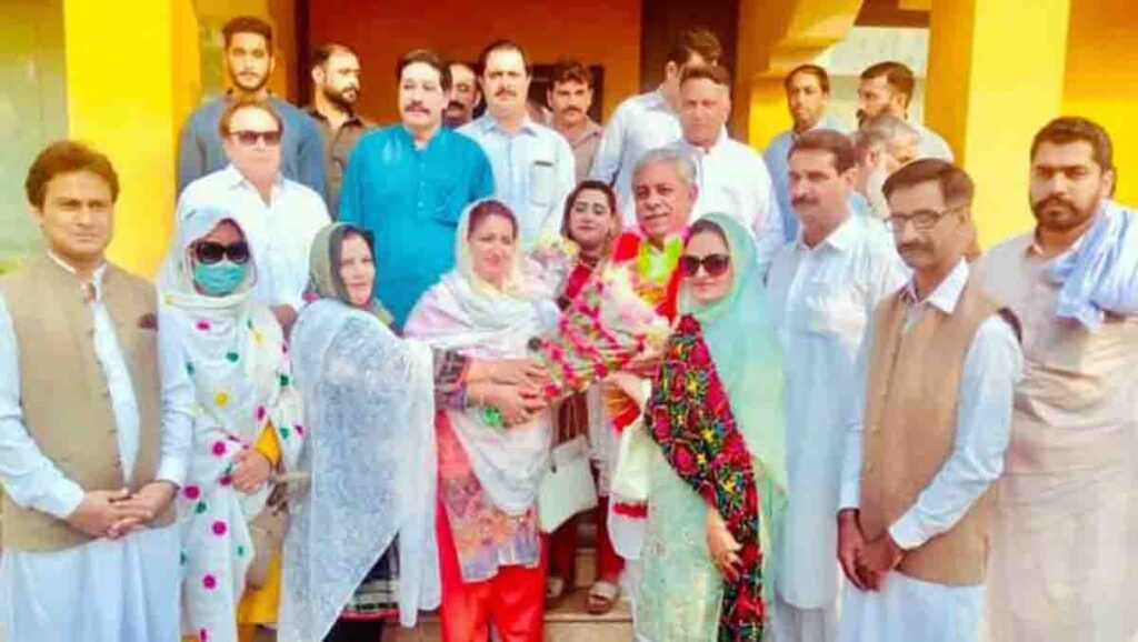 Rizwana Bibi also joined the faction of former provincial minister Yousuf Ayub Khan.
